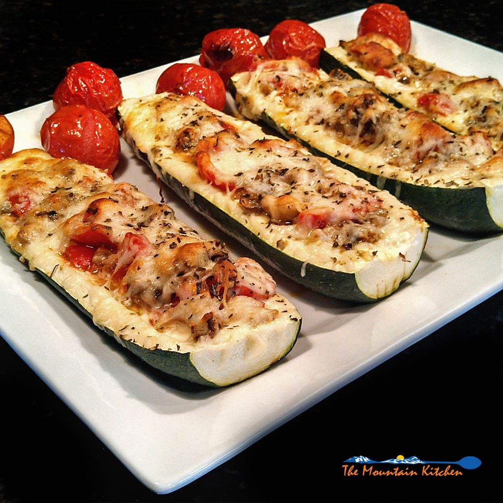 Italian Zucchini Boats {A Meatless Monday Recipe