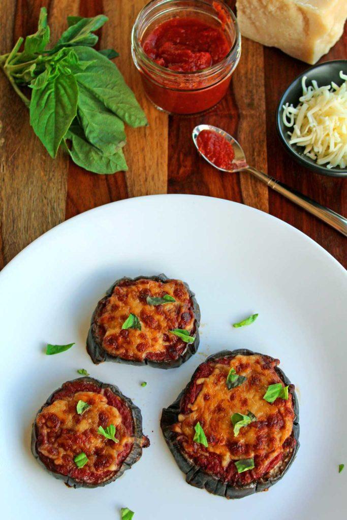 Julia's eggplant pizzas