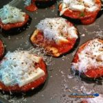 Eggplant slices, topped with warm tomato sauce and piled high with cheese, these eggplant pizzas are so good you'll totally forget about pizza crust. | TheMountainKitchen.com