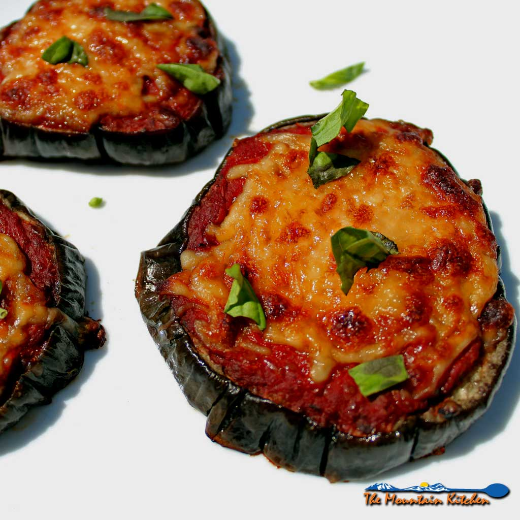 Julia's Eggplant Pizzas {A Meatless Monday Recipe