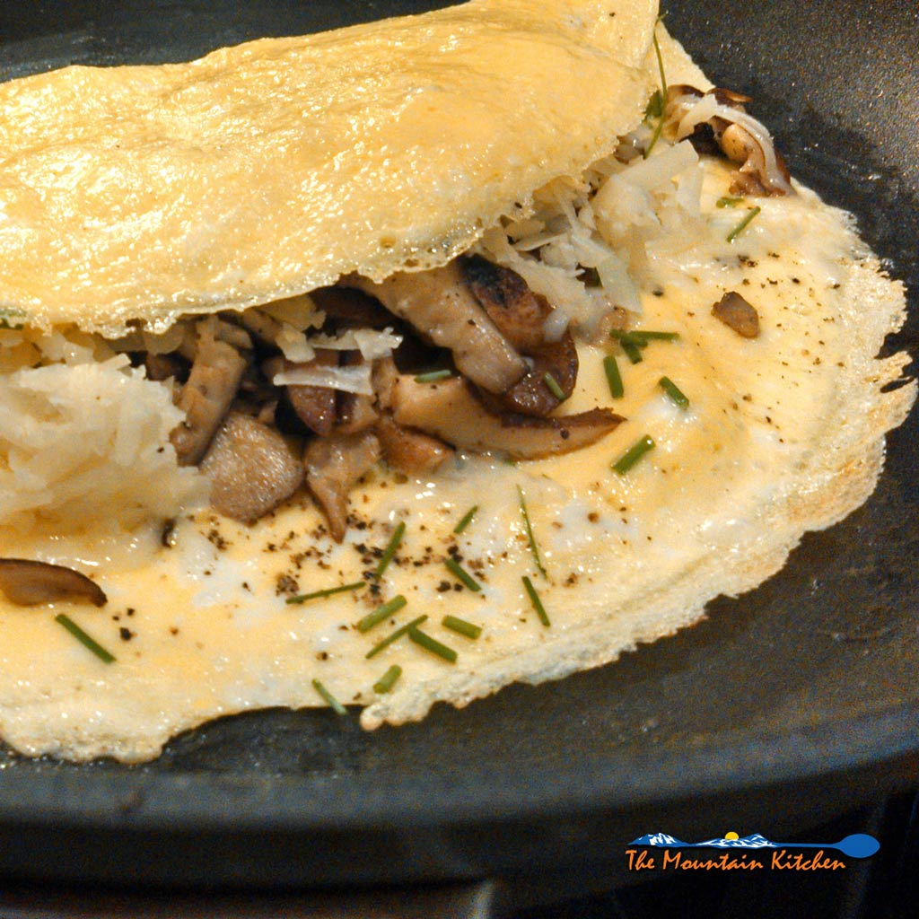 Shiitake Mushroom Omelettes With Cheese {A Meatless Monday Recipe
