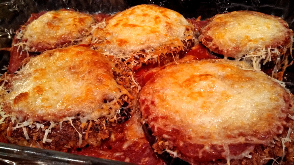 authentic eggplant parmesan