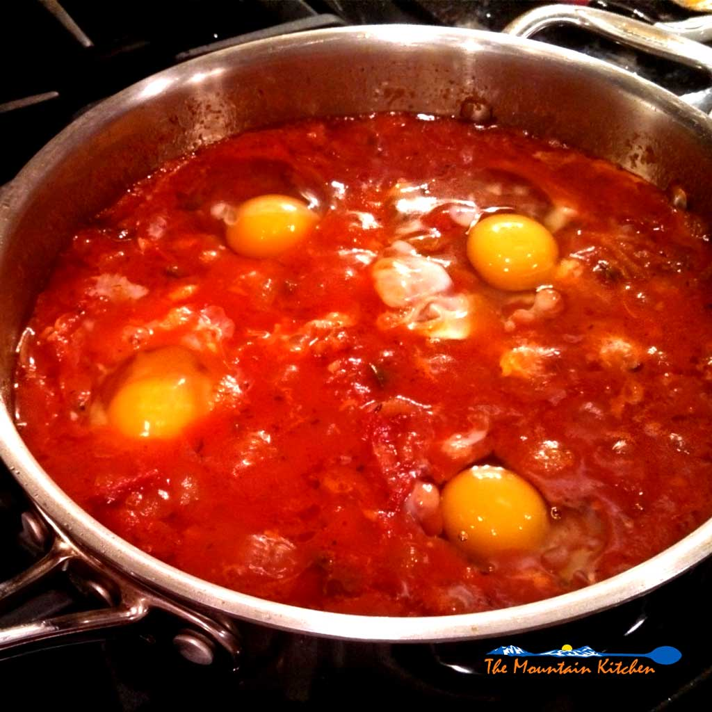 Eggs in Hell {A Meatless Monday Recipe