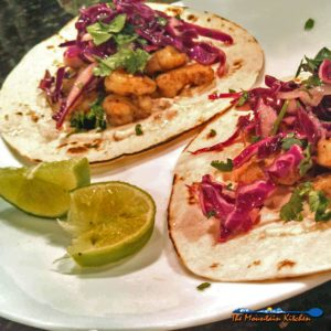 Grilled Shrimp Tacos With Red Cabbage Slaw and Chipotle Sour Cream