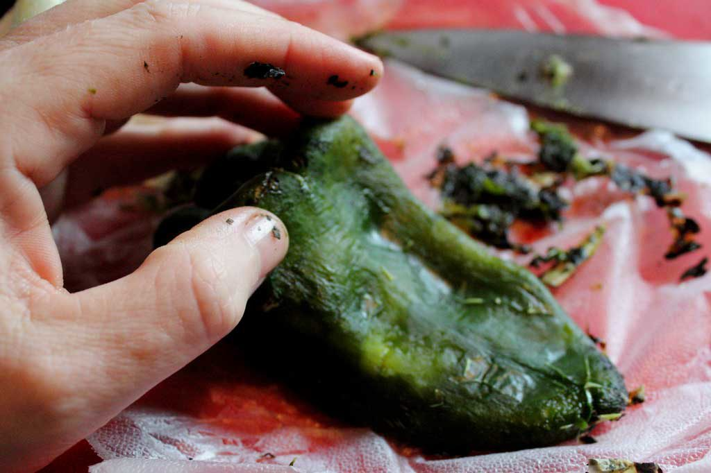 Things you need to know about preparing Poblano chiles. Preparing them becomes very simple, once you know how and the extra steps are so worth it! | TheMountainKitchen.com