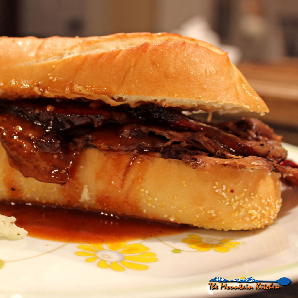 how to serve beef brisket sandwich