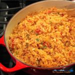 Restaurant-style Mexican rice can easily be made at home. This Mexican rice is a flavorful accompaniment to any of your homemade Mexican dishes. Delicious! | TheMountainKitchen.com