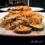 zucchini gratin on plate