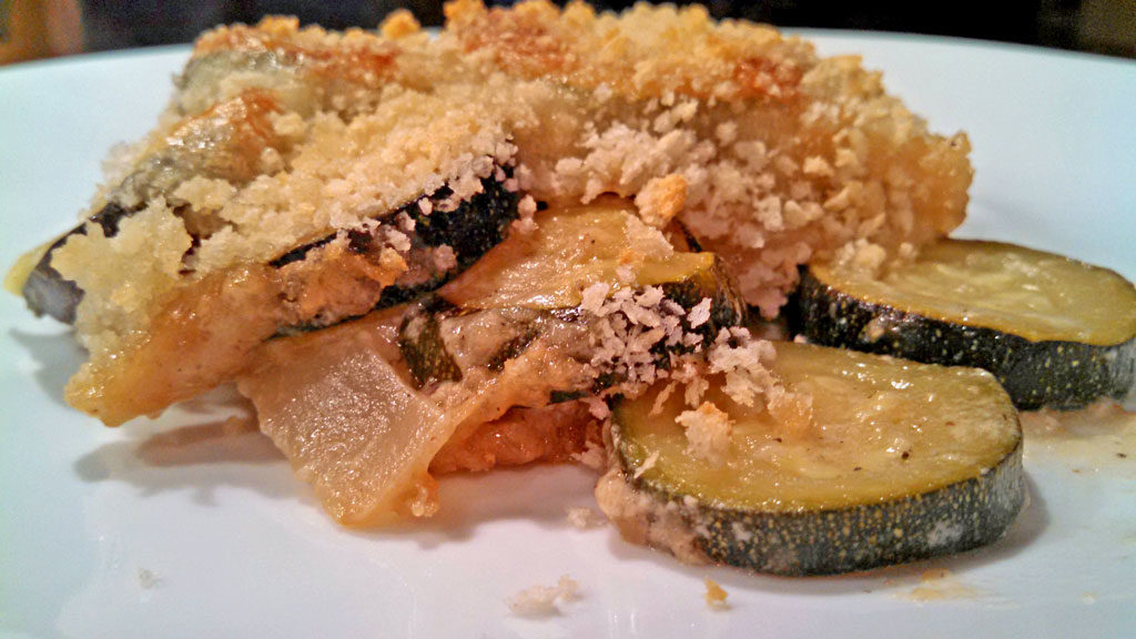 zucchini gratin with mushrooms a meatless monday recipe