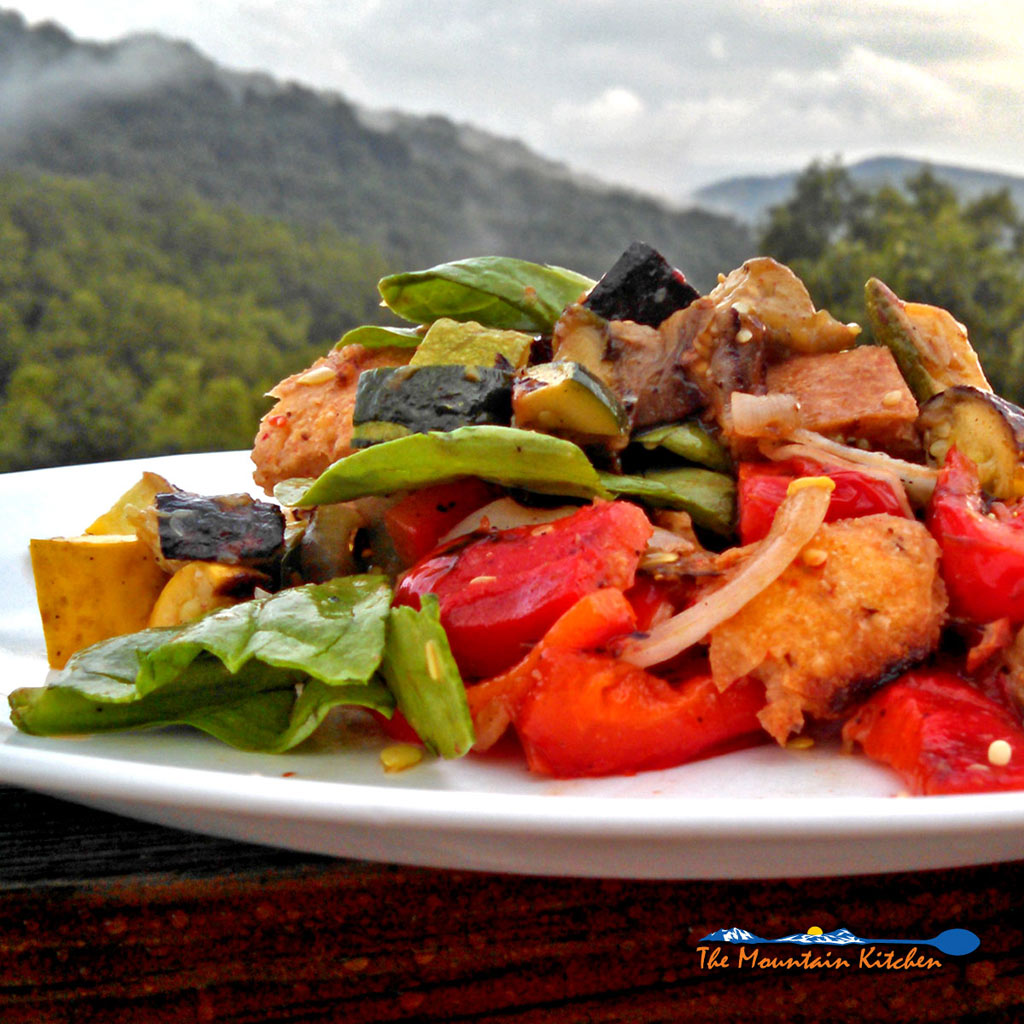 Grilled Vegetable Salad {A Meatless Monday Recipe