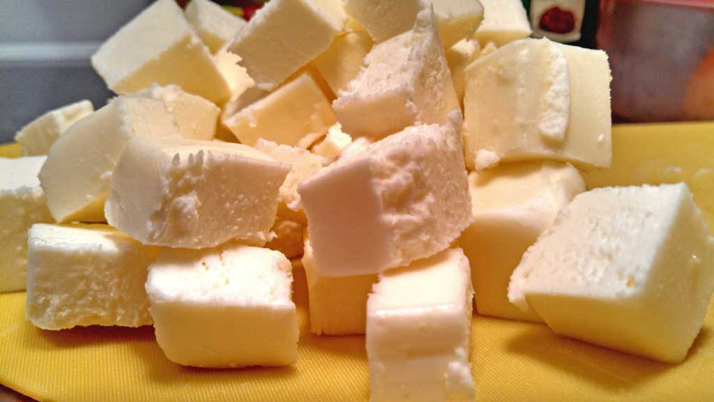 cubes of butter