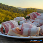 These grilled bacon wrapped jalapeno poppers are stuffed with two different cheeses, wrapped in bacon and grilled until crispy and the cheese is melted. | TheMountainKitchen.com