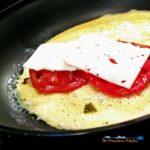 These mushroom tomato basil omelets are simple to make using fresh ripe tomatoes, shiitake mushrooms, garden fresh basil and creamy mozzarella cheese. YUM! | TheMountainKitchen.com