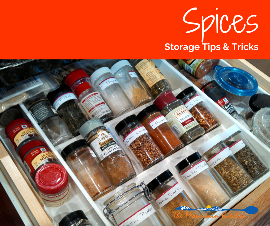 Spices: The Best Way to Store and Organize {The Mountain Kitchen Tips