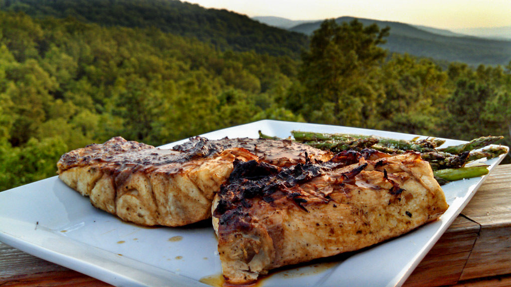 Made with only three ingredients, Al's Stolen Fish Sauce is made with a mixture of butter, Worcestershire, lemon juice. Use it for basting grilled fish! | TheMountainKitchen.com
