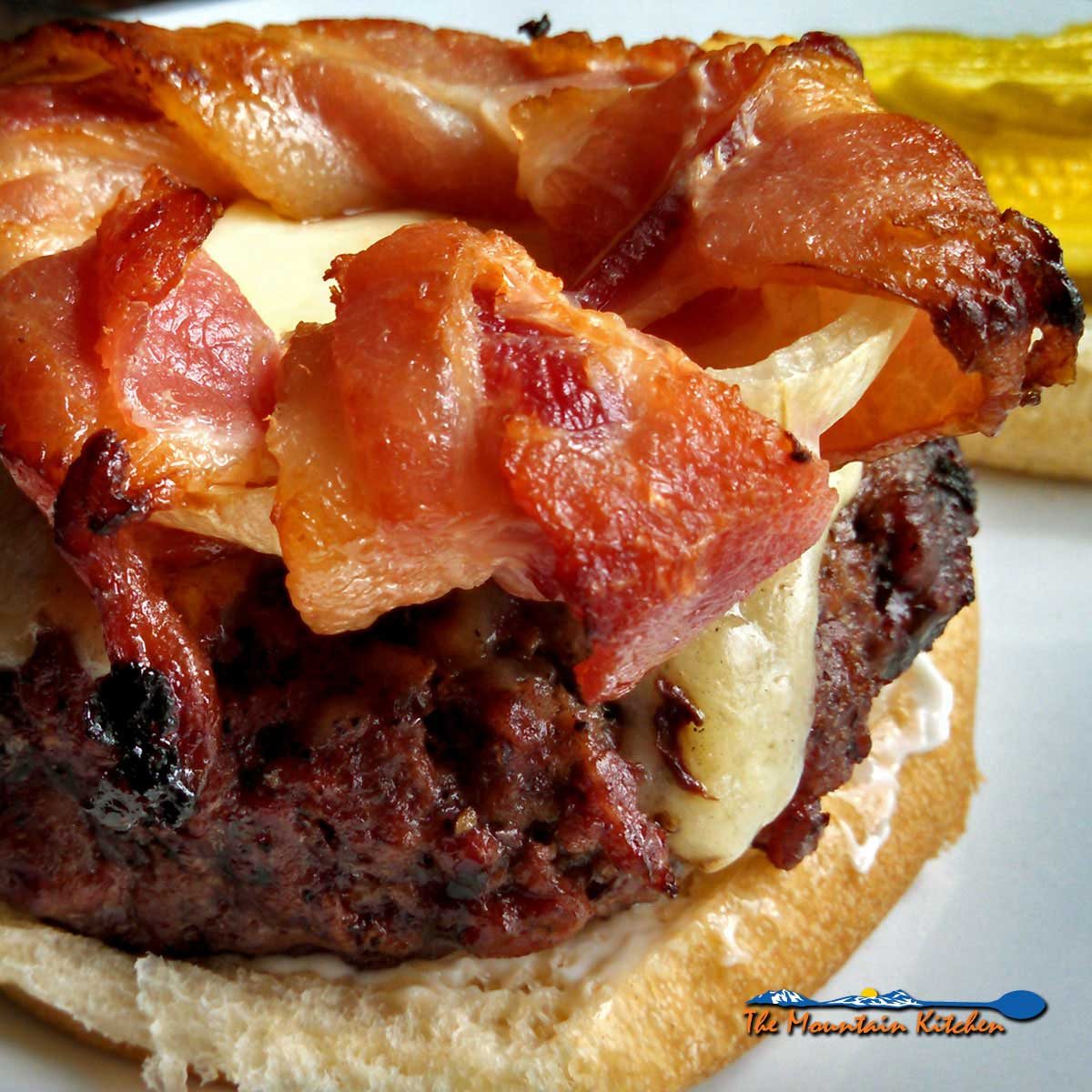 Bacon Onion Burger Crowns