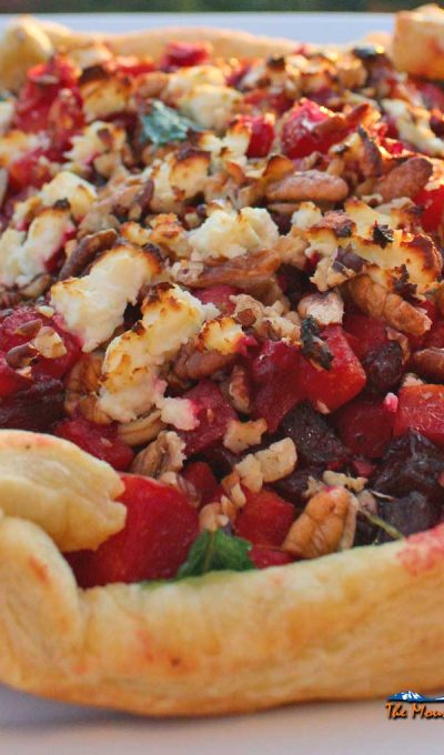 Butternut Squash and Beet Tart {A Meatless Monday Recipe