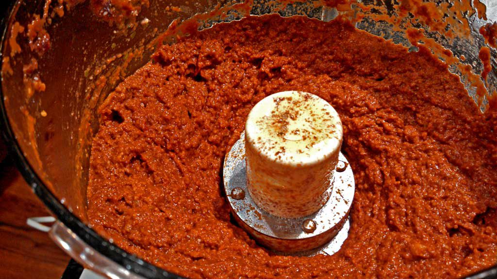 sun-dried tomato pesto inside food processor