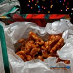 These candied walnuts are made with honey, brown sugar and butter make up a sticky candy coated goodness. Try this mixture on walnuts or any other nuts. | TheMountainKitchen.com