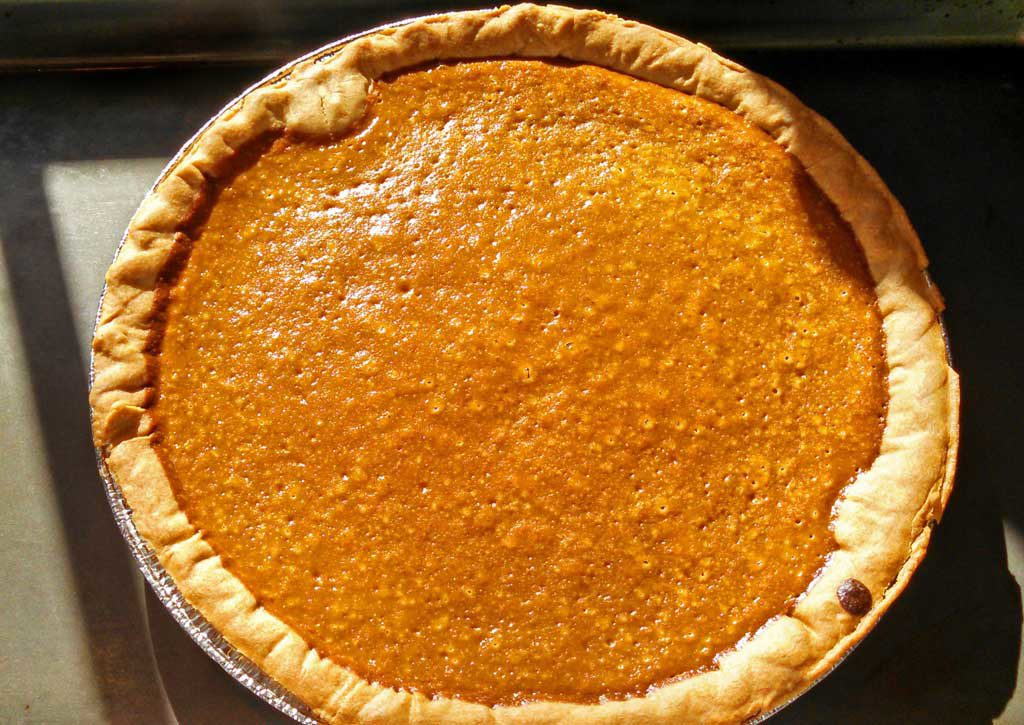 Fresh pumpkin makes this homemade pumpkin pie traditional, rich, creamy, smooth and velvety with warm spices and a hint of molasses.   TheMountainKitchen.com