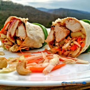 Asian Chicken Wraps { A Great Spring Grilling Recipe
