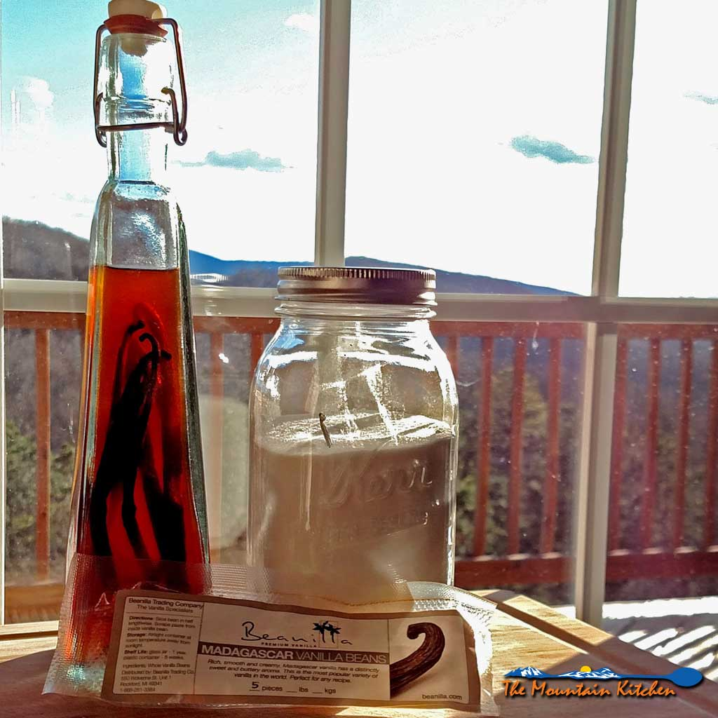 Homemade Vanilla Extract and Vanilla Sugar {The Mountain Kitchen Tips