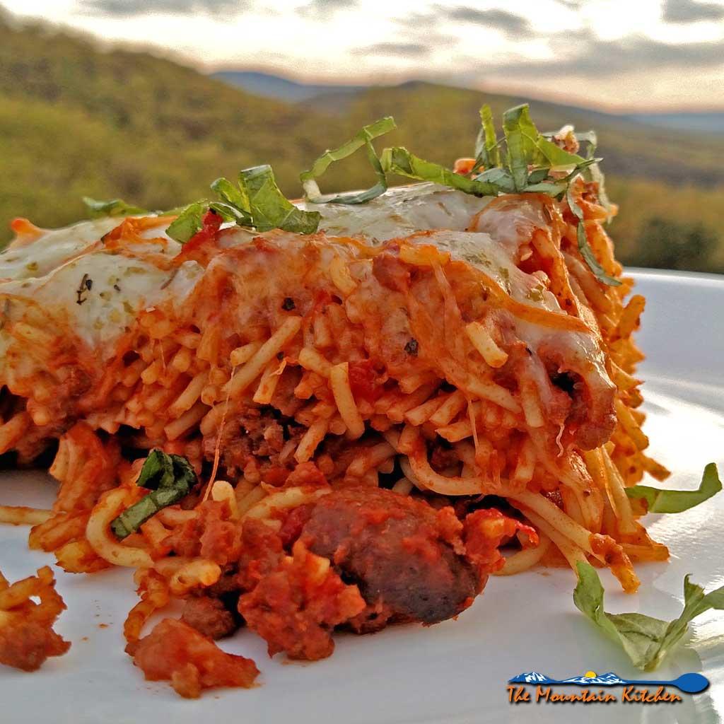 Baked Spaghetti {The Mountain Kitchen Tips