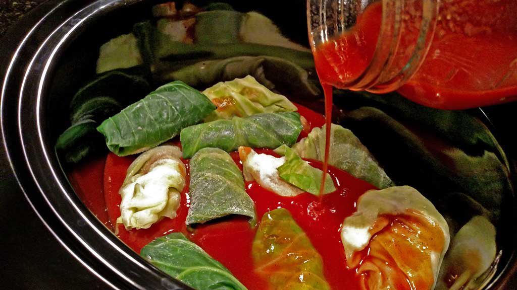 These freezer to crock-pot stuffed cabbage rolls can be turned into a quick and easy weeknight meal inside your crock-pot straight from the freezer. TheMountainKitchen.com