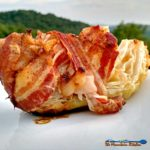 Grilled cabbage browns and caramelizes with a nutty sweetness, with salty, crisp bacon, a combination of flavors that is nothing short of grill magic! | TheMountainKitchen.com