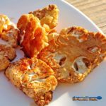 "This recipe for sriracha roasted cauliflower uses delicious cauliflower, with a kick, kind of like a ""meatless buffalo wing"" for Meatless Monday. 