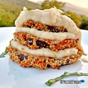 Eggplant Parmesan With Cauliflower Alfredo Sauce {A Meatless Monday Recipe