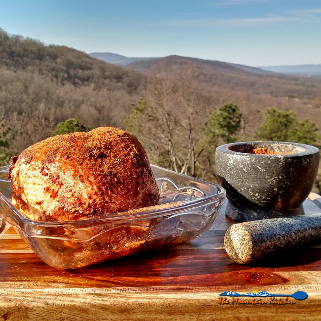 Applewood Smoked Turkey Breast | This applewood smoked turkey breast is rubbed with a blend of warm spices and smoked over a bed of coals and applewood. It is moist, tender and delicious. | TheMountainKitchen.com