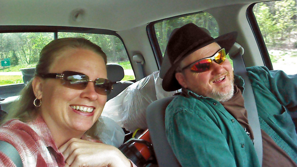 Debbie and David in the truck going camping