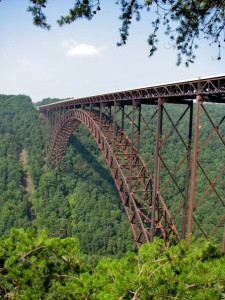 The New River Gorge and bridge