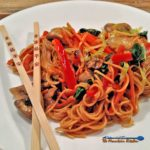Quick, easy and delicious, you can make this fake lo mein in your own kitchen in less than 30 minutes. Healthier than take out without sacrificing flavor. | TheMountainKitchen.com