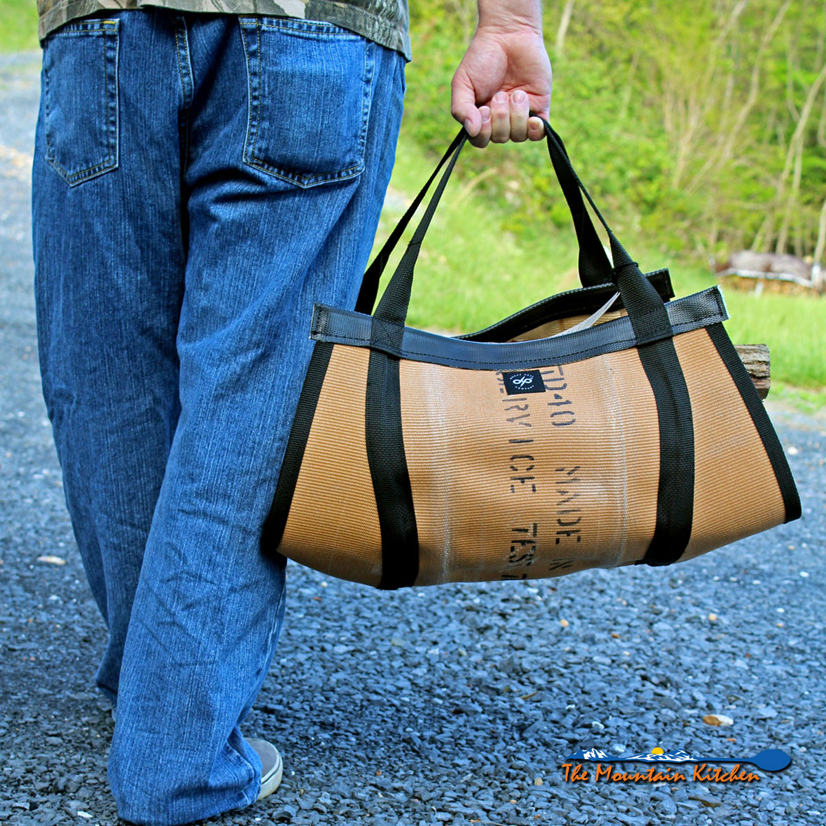 UncommonGoods Fire Hose Log Carrier