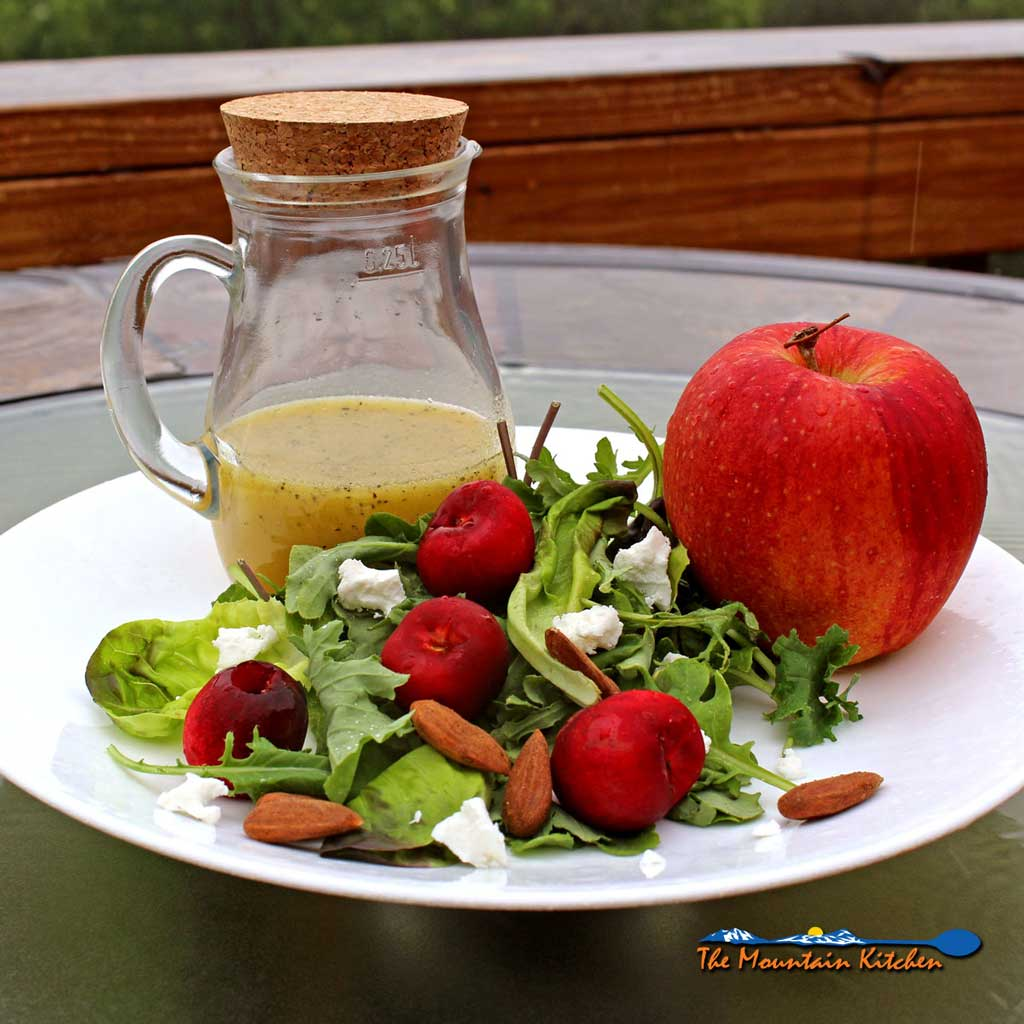 Cherry-Apple Salad With Orange Champagne Vinaigrette {A Meatless Monday Recipe