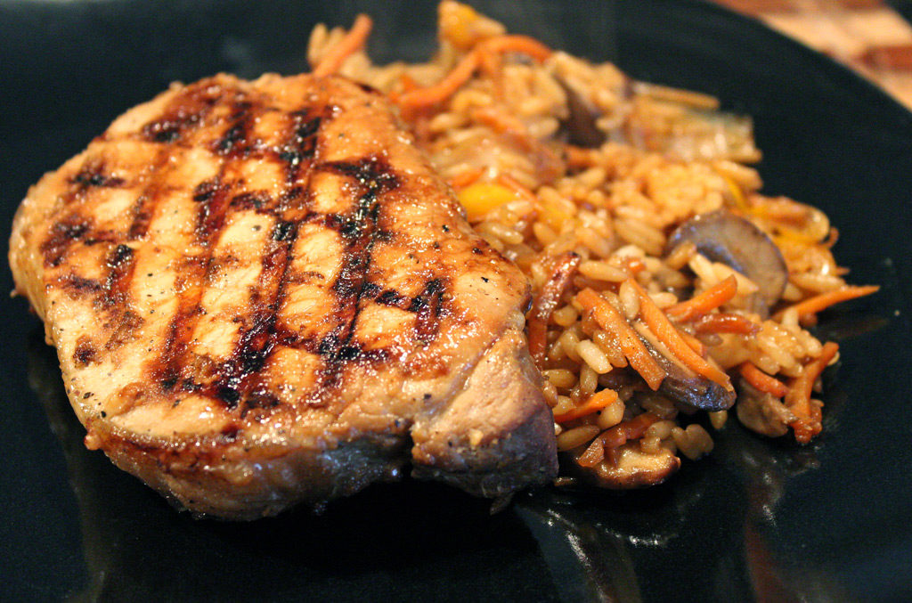 easy-grilled-teryaki-pork-chops-stir-fried-rice-6