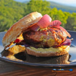 Curried Pork Burgers | Enjoy a new twist to your next burger by making your next patties with pork. Infused with exotic flavors, these burgers are bold pork-based burger made with red onion, garlic, Worcestershire and curry powder for extra kick. | TheMountainKitchen.com