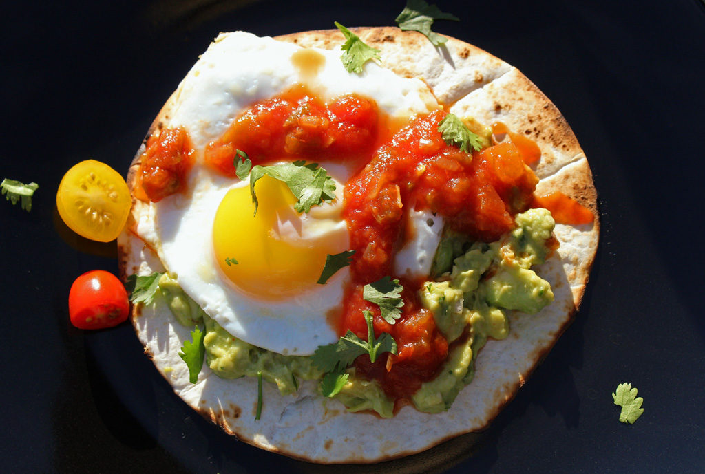Mexican Breakfast Pizza ready to eat