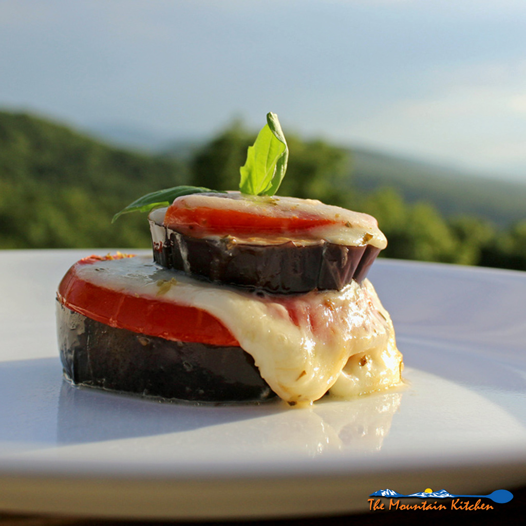 Roasted Eggplant Caprese Stacks {A Meatless Monday Recipe