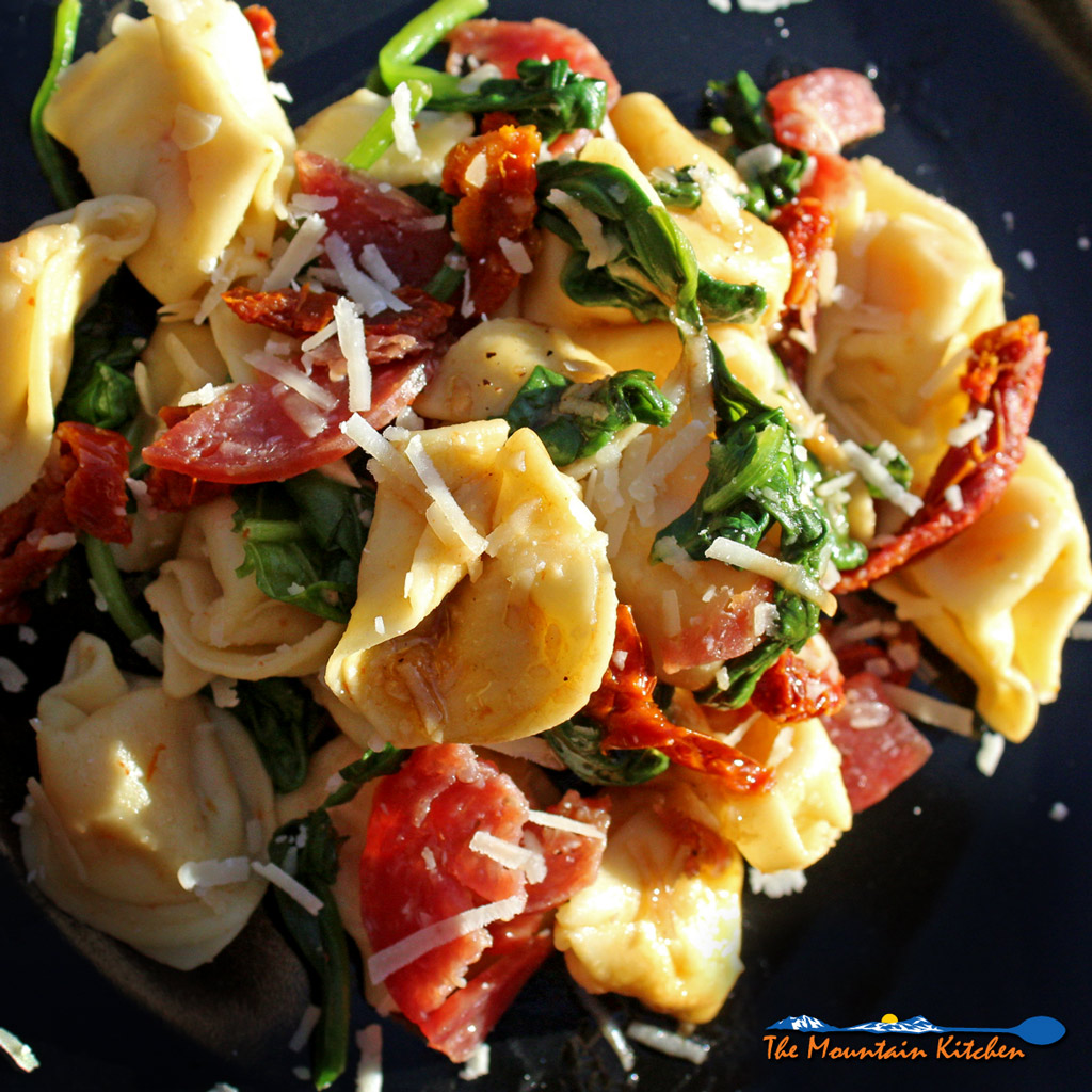 Tuscan Tortellini Pasta Salad With Balsamic Dressing
