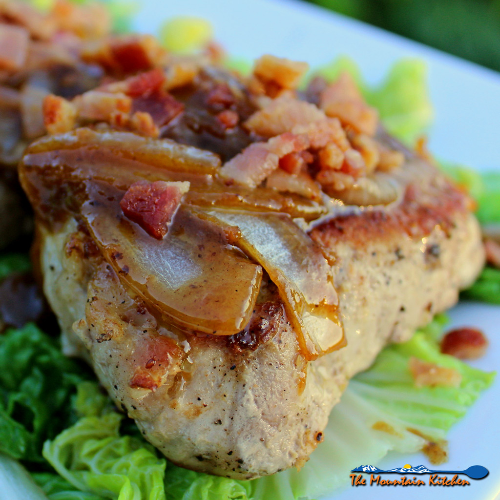 Delectable Pan-Seared Pork Chops with Dijon Bacon Vinaigrette