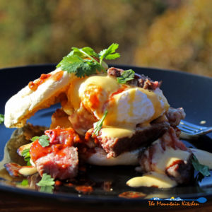 Steak Eggs Benedict with Chipotle-Lime Hollandaise