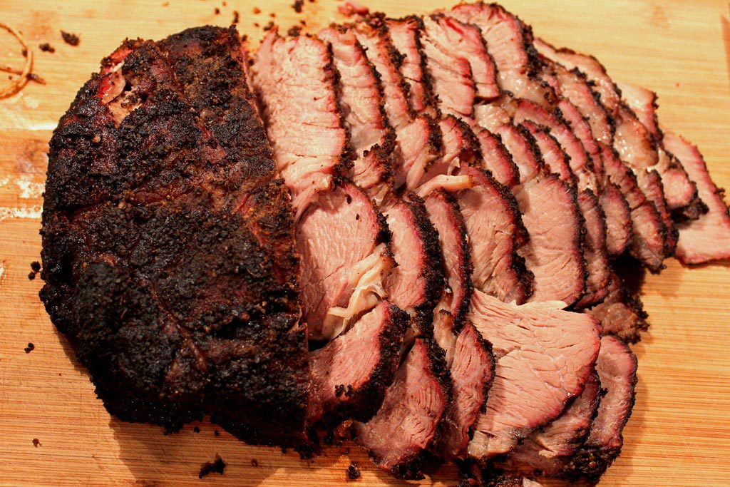 sliced smoked chuck roast