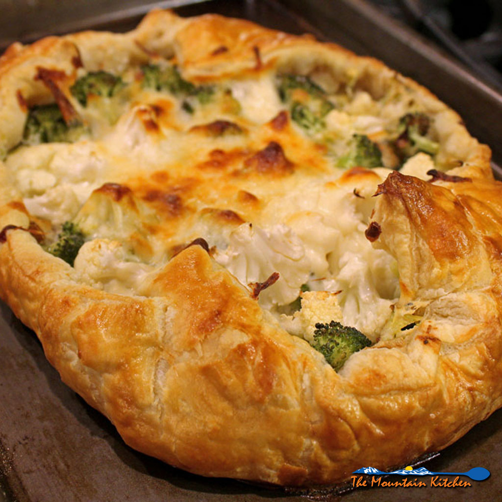 Broccoli-Cauliflower Galette With Leeks and Ricotta Cheese {A Meatless Monday Recipe