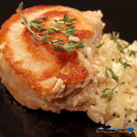 These cheesy rice stuffed pork chops are made with juicy pan seared pork chops stuffed with creamy rice with mozzarella, ricotta and parmesan cheeses. YUM!   TheMountainKitchen.com