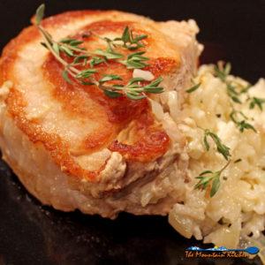 Cheesy Rice Stuffed Pork Chops