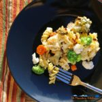 easy roasted vegetable pasta bake