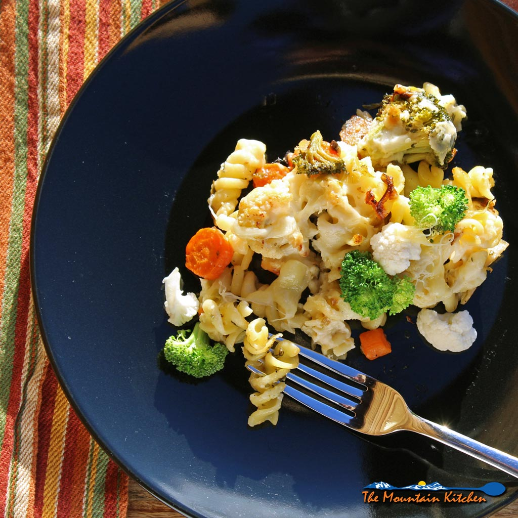 Easy Roasted Vegetable Pasta Bake {A Meatless Monday Recipe